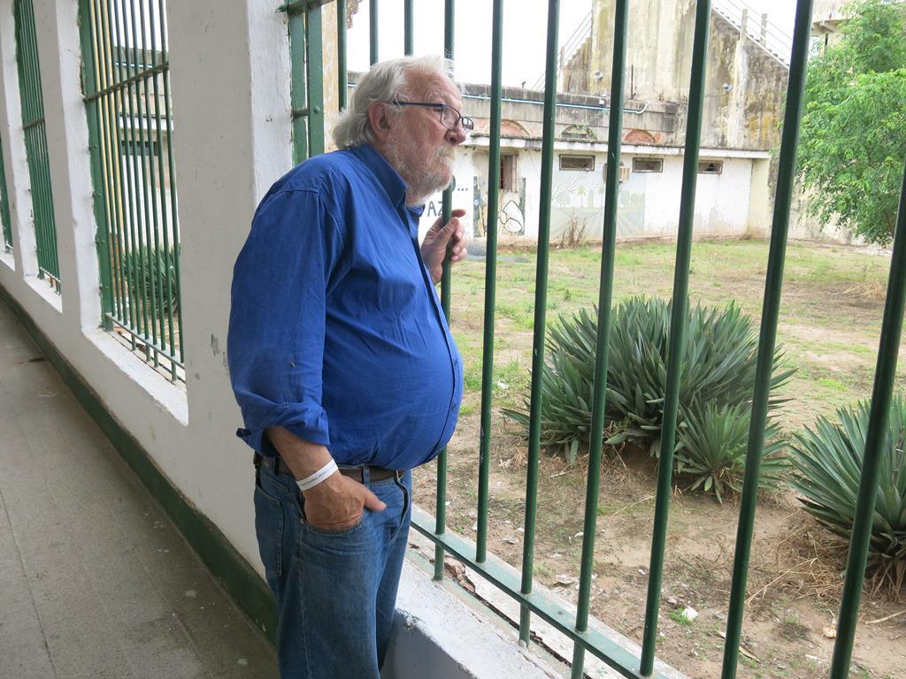 Victorio Paulon y  7 otros ex presos politicos volvieron a visitar Coronda 40 años después el 28_10_2019 Foto Sergio Ferrari